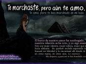 Te marchaste