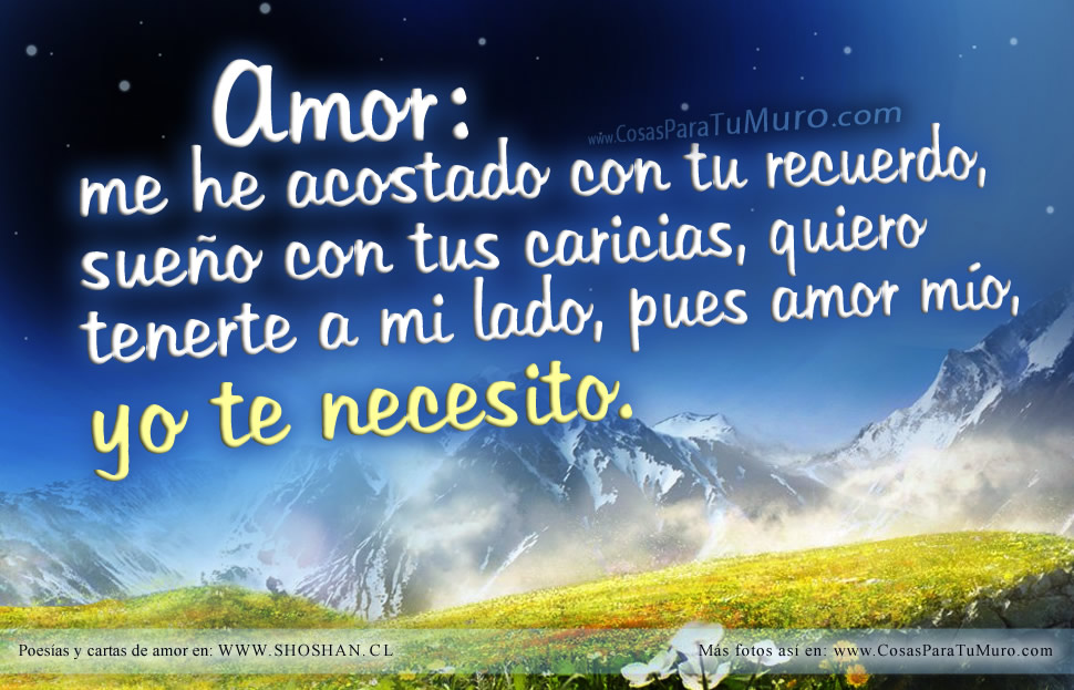 Amor, te necesito