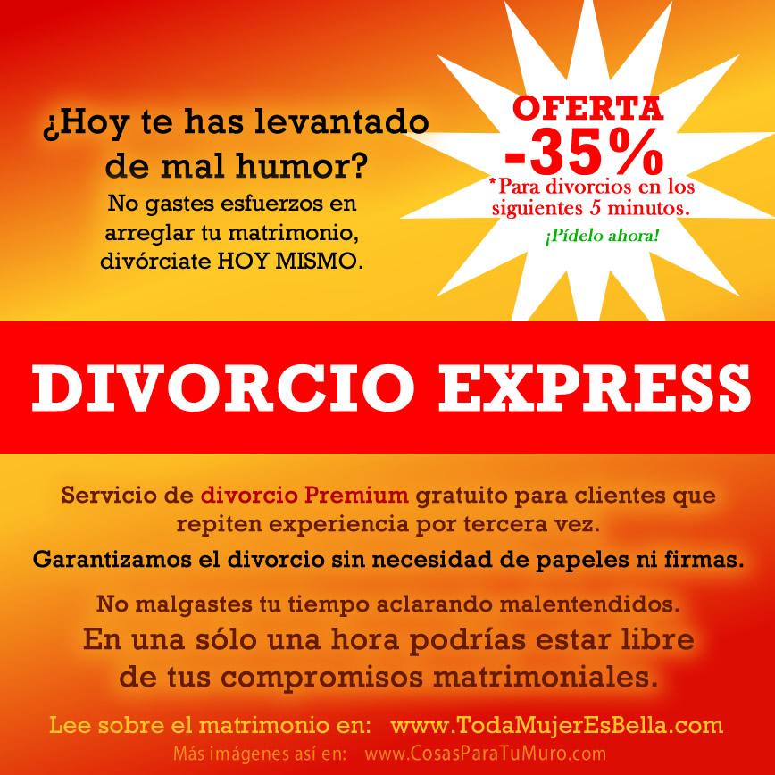 En El Matrimonio Catolico Hay Divorcio : Divorcio express